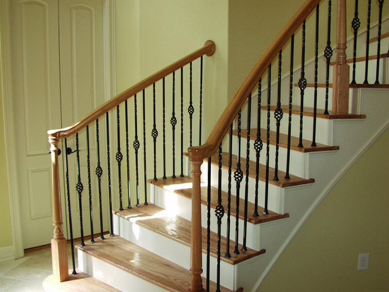 Custom Interior Wood Railings Amp Stairs Installation In